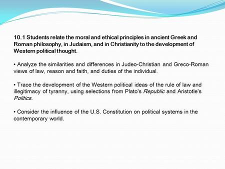 greco roman and judeo christian similarities