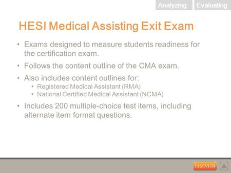 HESI Medical Assisting Exit Exam Exams designed to measure students ...