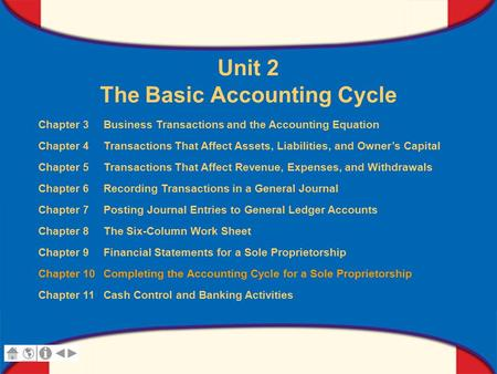Chapter 10 Completing the Accounting Cycle for a Sole Proprietorship