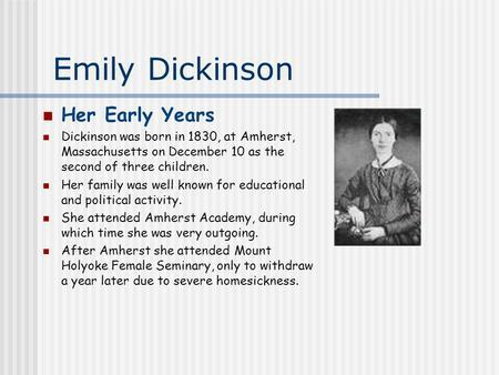 emily dickinson education