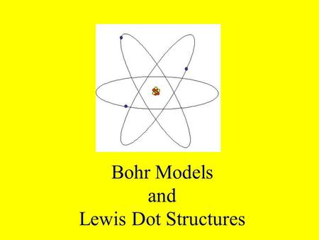 Bohr Models and Lewis Dot Structures. Recall that electrons are NOT in the nucleus of the atom! A VERY simple way to think about the positions of atoms.
