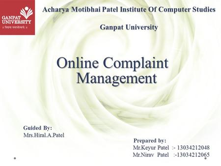 A Project Report On Hostel Management System Ppt Video Online Download