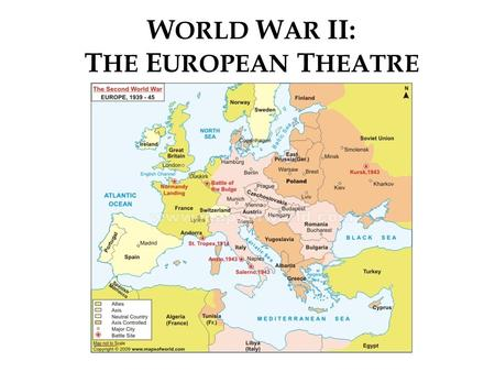 TURNING POINTS of WWII. - ppt video online download