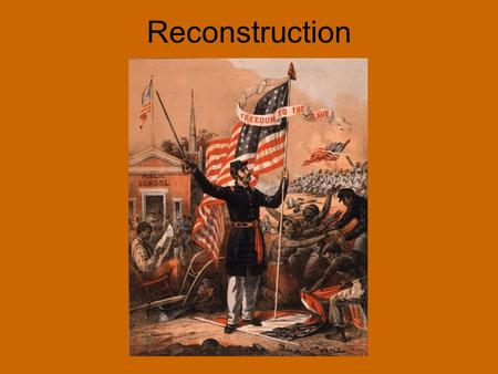 Reconstruction. 10 Percent Plan As soon as ten percent of state's voters took a loyalty oath to the Union, the state could set up a new government If.
