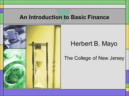 An Introduction to Basic Finance