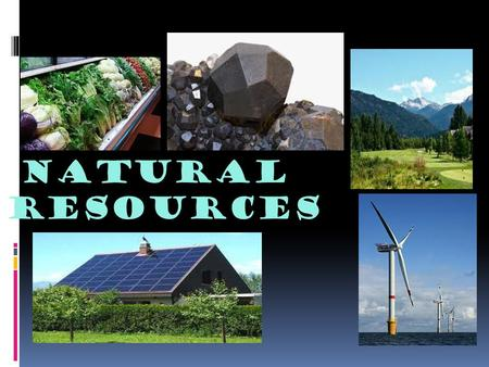 Natural Resources. What is a natural resource?  A resource is a material that is found in nature and that is used by living things.  Natural resources.