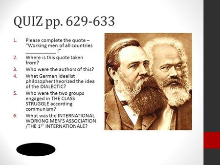 Karl Marx and Marxism  - ppt video online download