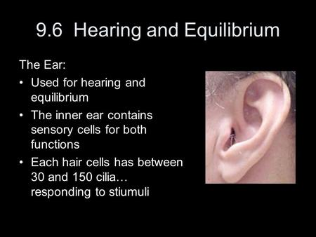 9.6 Hearing and Equilibrium