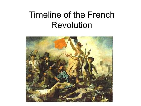 Timeline of the French Revolution. 1774 Louis XVI takes the throne at the age of 19. Well Intentioned but weak leader who was often dominated by his wife,