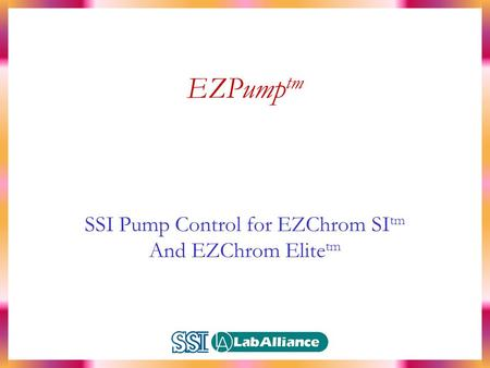 Ezchrom Software manual