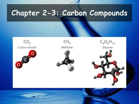 Chapter 2-3: Carbon Compounds