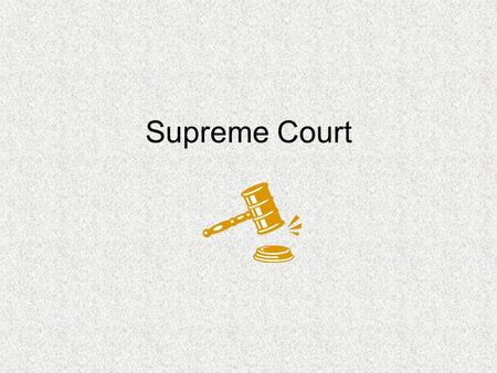 Supreme Court. Members 9 justices Serve for life Lead by the Chief Justice Appointed by the President, approved by the Senate.