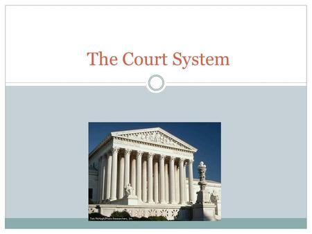The Court System. The US Federal Court System The Current Supreme Court The court has final authority on cases involving the constitution, acts of Congress,