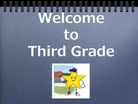 Welcome to Third Grade. Third Grade Objectives We want our Third Graders to become: Self-Directed Learners Self-Managing Students Responsible Citizens.