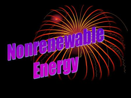 Nonrenewable Energy.