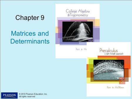 Chapter 6 Matrix Algebra  - ppt download