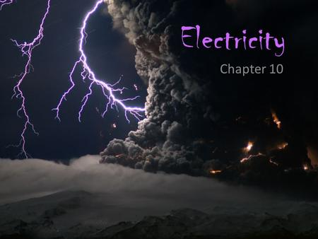 Electricity Chapter 10. Recall this info… All matter is made of atoms which are the smallest particle of an element that has all the properties of that.