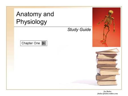 Chapter One Anatomy and Physiology Study Guide Jay Bailey