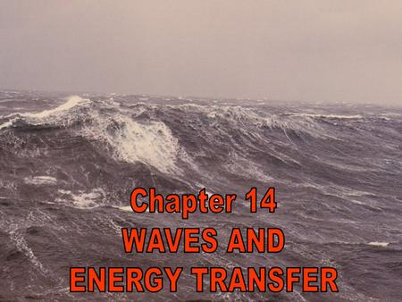 What you will learn: You will determine how waves transfer energy You will describe wave reflection and discuss its practical significance.