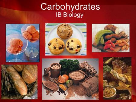Carbohydrates IB Biology Molecular Models Kits In your groups, you have a kit. We will be making models with these over the next several class periods.