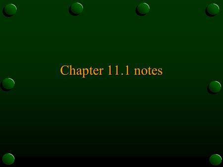 Chapter 11.1 notes. Saving Saving = not spending $ Investment – use of income today for a future benefit.