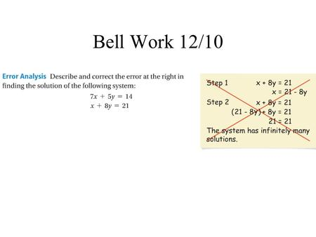 Bell Work 12/10. Objectives The student will be able to: 1. multiply monomials. 2. simplify expressions with monomials.