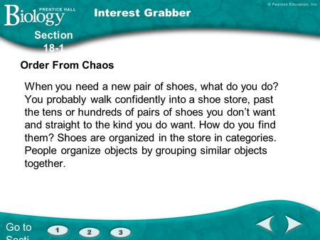 Interest Grabber Section 18-1 Order From Chaos