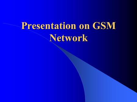 Presentation on <strong>GSM</strong> Network. <strong>GSM</strong>-Introduction Architecture Technical Specifications Frame Structure Channels <strong>Security</strong> Characteristics and features Applications.