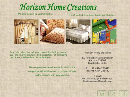 Manufacturers & Exporters of Home Textiles Karur, India  - ppt download