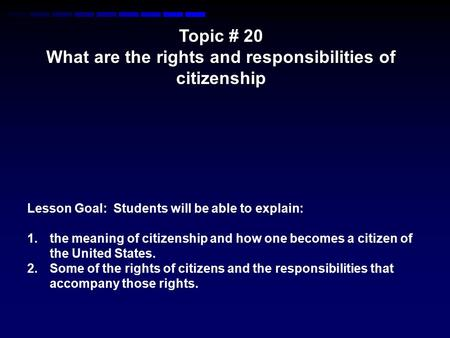 What are the rights and responsibilities of citizenship