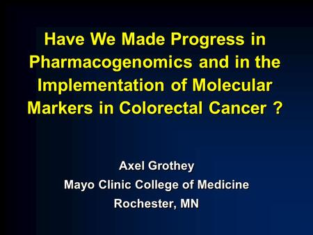 Predicting Safety and Efficacy of Treatment for Colon Cancer