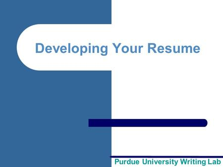 Writing a Great Resume Created by: George Mason University - ppt ...