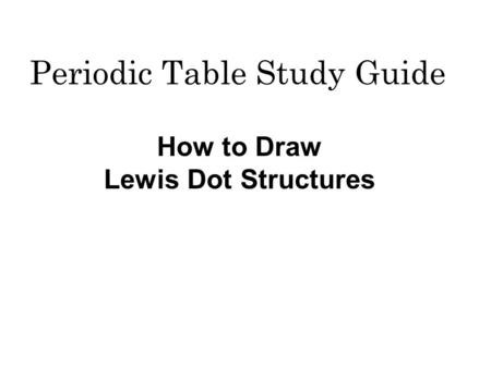 Periodic Table Study Guide Ppt Video Online Download