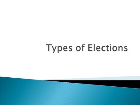  An election held before the general election  Voters choose members of their political party to run for public office in the general election  Candidates.