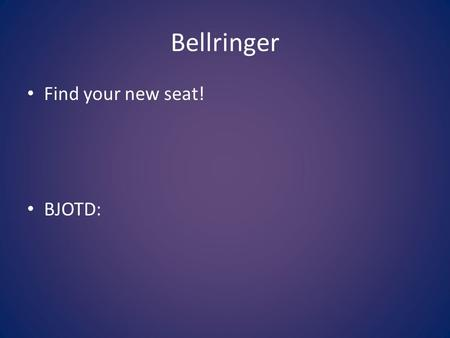 Bellringer Find your new seat! BJOTD:. Objectives Students will know: – Cottage industries, the Industrial Revolution, Agricultural Revolution, and inventions.