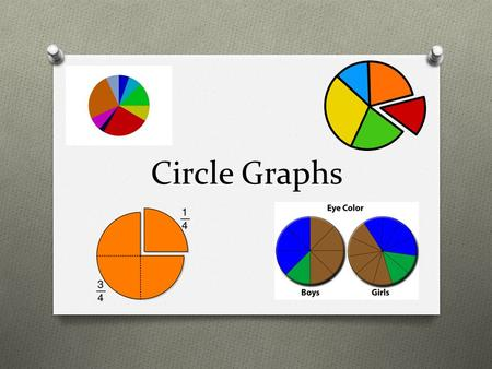 Circle Graphs. Hook Circle Graphs 4 th Grade SPI 0406.5.1 Depict data using various representations (e.g., tables, pictographs, <strong>line</strong> graphs, bar graphs)