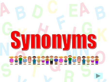 LO  I understand the terms synonym and antonym  - ppt video