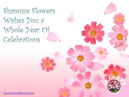 Shamuns Flowers Wishes You a Whole Year Of Celebrations www.shamunsflowers.com.