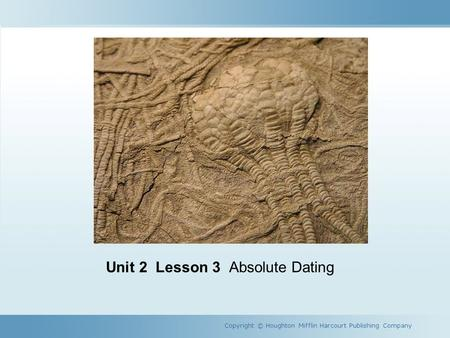 Absolute age dating lesson 3 homework