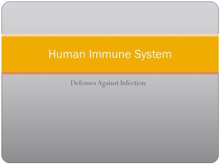Defenses Against Infection Human Immune System. KEY CONCEPT The immune system has many responses to pathogens and foreign cells.