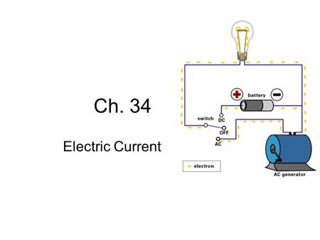 Ch. 34 Electric Current.