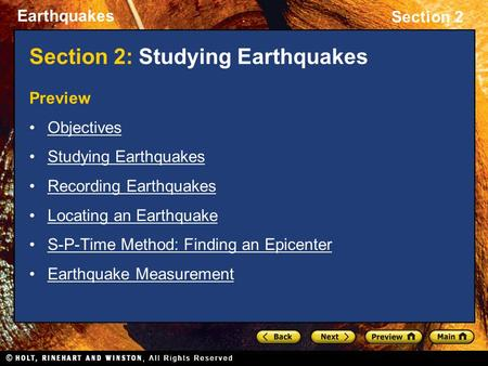 Section 2: Studying Earthquakes