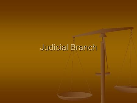 Judicial Branch. JOB Interprets the laws Interprets the laws Determines if law is constitutional (judicial review) Determines if law is constitutional.