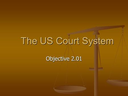 The US Court System Objective 2.01.