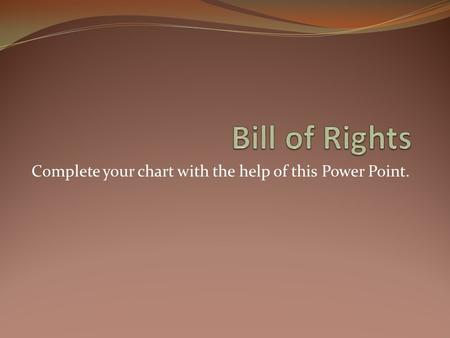 Complete your chart with the help of this Power Point.