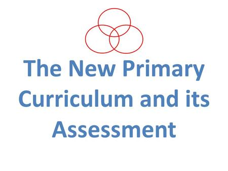 The New Primary Curriculum and its Assessment. Aim The aim of this meeting is to give you information about the changes that are happening in education.