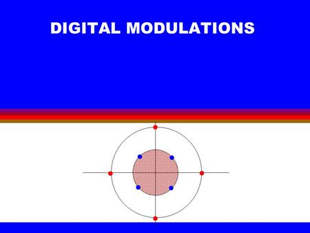 DIGITAL <strong>MODULATIONS</strong>. ©2000 Bijan Mobasseri2 Why digital <strong>modulation</strong>? l If our goal was to design a digital baseband communication system. We have done.