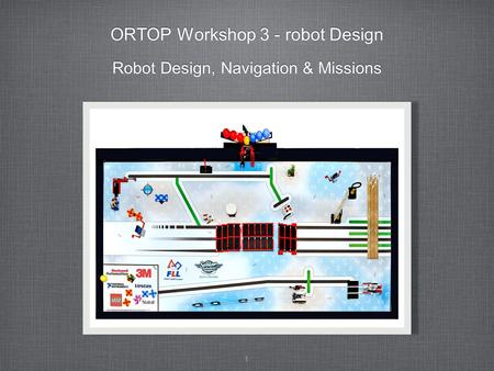 1 ORTOP Workshop 3 - robot Design Robot Design, Navigation & Missions.