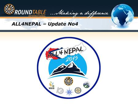 ALL4NEPAL – Update No4. So what can we do...... Global Partnership Making a Difference RT <strong>NEPAL</strong>.