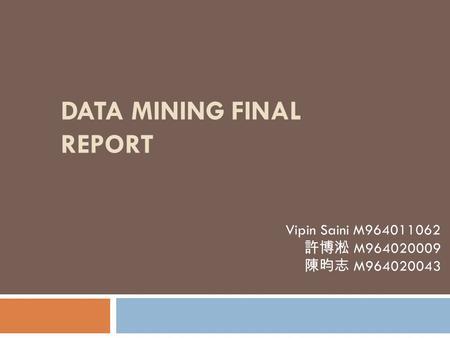 Final Project Mining Mushroom World Agenda Motivation And
